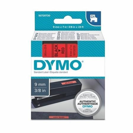 Taśma Dymo S0720720 czerwona/czarny druk, 9 mm