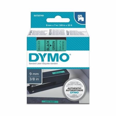 Taśma Dymo S0720740 zielona/czarny druk, 9 mm