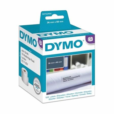 Etykiety papierowe Dymo S0722400, 89x36 mm, 2x260 szt.