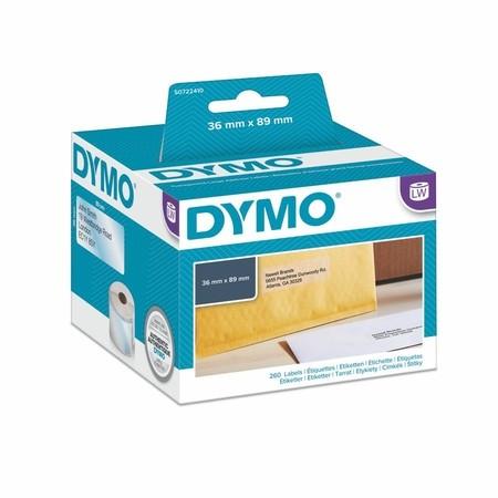 Etykiety foliowe Dymo S0722410 przezroczyste, 89x36 mm, 260 szt.