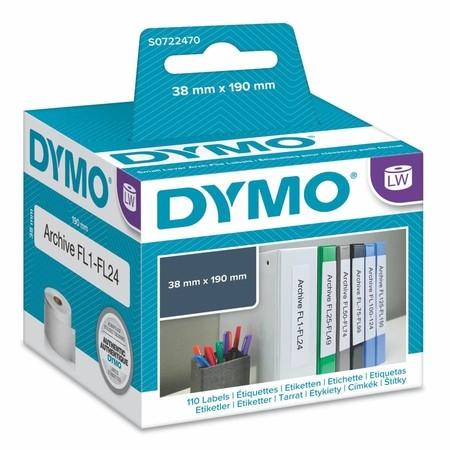 Etykiety papierowe Dymo S0722470, 190x36 mm, 110 szt.