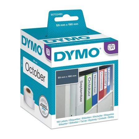 Etykiety papierowe Dymo S0722480, 190x59 mm, 110 szt.