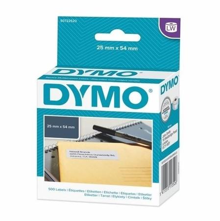 Etykiety papierowe Dymo S0722520, 54x25 mm, 500 ks