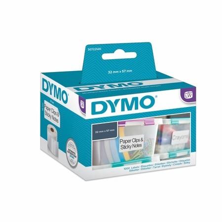 Etykiety papierowe Dymo S0720540, 57x32 mm, usuwalne, 1000 szt.