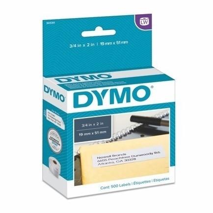 Etykiety papierowe Dymo S0720550, 19x51 mm, usuwalne, 500 szt.