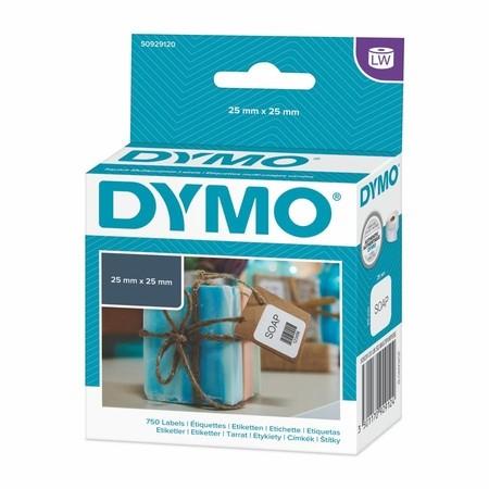 Etykiety papierowe Dymo S0929120, 25x25 mm, 750 szt.