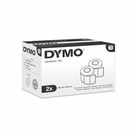 Etykiety papierowe Dymo S0947420, 102x56 mm, mega rolki, 2x575 szt.