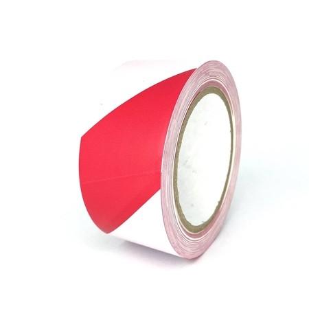 Taśma podłogowa TMF08 czerwono-biała 50 mm, długość 30 m