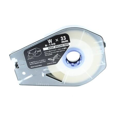 Etykieta samolaminująca WAT-10 biała, 8 m
